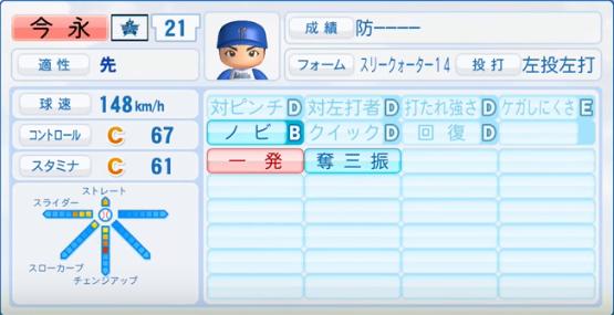 今永昇太_横浜DeNAベイスターズ_パワプロ能力データ_2016年シーズン終了時