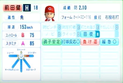 前田健太_広島カープ_パワプロ能力データ_2014年シーズン終了時