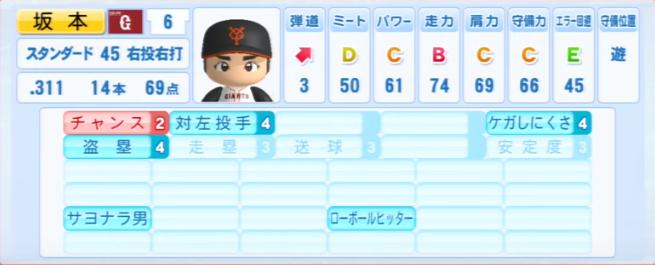 坂本勇人_巨人_パワプロ能力データ_2013年シーズン終了時