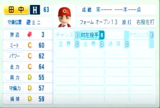 田中広輔_広島カープ_パワプロ能力データ_2014年シーズン終了時