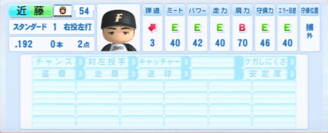 近藤健介_日本ハムファイターズ_パワプロ能力データ_2013年シーズン終了時
