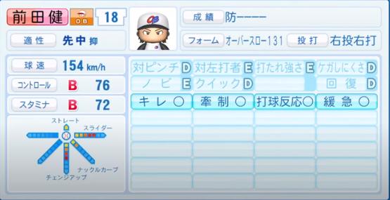 前田健太(投手)_OB_パワプロ2020能力データ_7月9日Ver