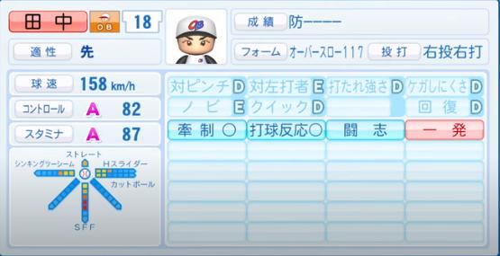 田中将大_OB_パワプロ2020能力データ_7月9日Ver